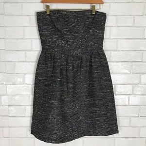 Gap Factory Strapless Tweed Holiday Dress